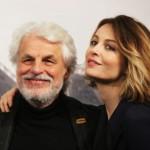 Violante Placido and her father Michele Placido