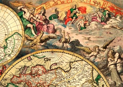 World antique and bizarre maps