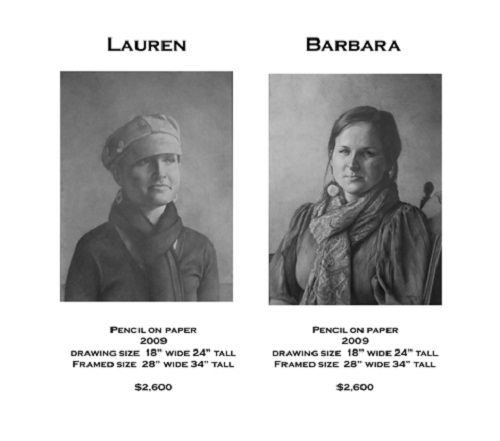 Laura and Barbara. Drawing by American artist Chris LaPorte