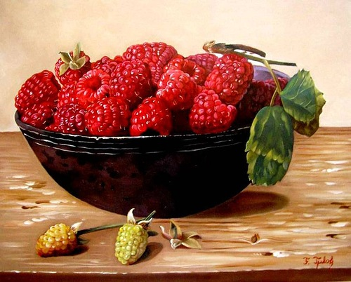 Realistic still life paintings by Ferenc Tulok