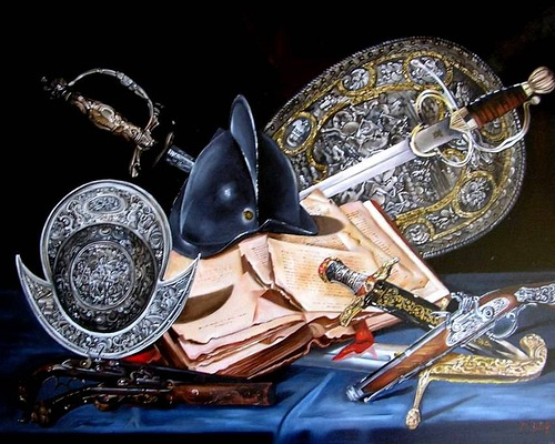 Still life painting by Hungarian self-taught artist Ferenc Tulok