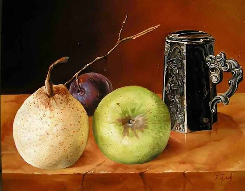 Realistic still life paintings by Hungarian self-taught artist Ferenc Tulok
