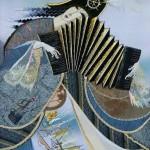 Harmonica and sails. Art by Marina Printseva