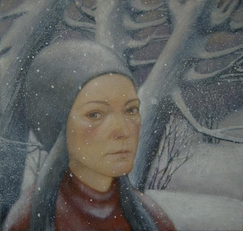 Winter tenderness in painting by Russian artist Natalia Syuzeva