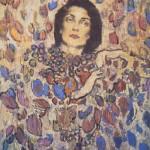 Brunette woman, portrait. artist Robert Andersen
