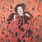 Red and black. Female portrait. Paintings by Moldavian artist Robert Andersen