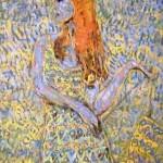 A woman in sarafan. Paintings by Moldavian artist Robert Andersen