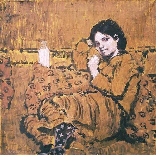 On the sofa. Paintings by Moldavian artist Robert Andersen
