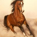 Horse. Oil on canvas. 2013. Painting by Italian artist Tina Bruno