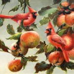 Apples. Painting by Italian artist Tina Bruno