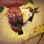 Humming bird. 2011. Oil on canvas. Painting by Italian artist Tina Bruno