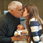 With a newborn, Michele Placido