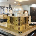 Mini-replica of Taj Mahal of precious metals and diamonds