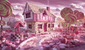 Willy Wonka Food architecture by Foodscape photographer Carl Warner