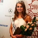 Miss Ukraine winner in a crown by Kiev jewellery factory