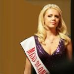 Miss Blonde in diadem of Kiev jewellery factory