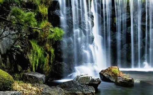 Enchanting beauty of waterfalls