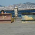 Unusual benches made in the form of books decorate streets, parks and squares of Turkish city of Istanbul