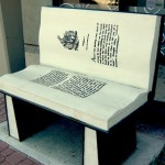 Decorative street art Book benches in Istanbul