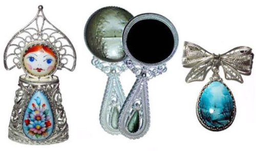 Samples of finift jewellery