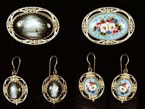 Traditional Rostov finift jewellery