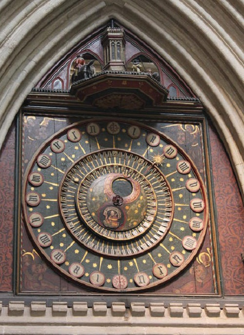 The Cathedral Church of Saint Andrew (Wells Cathedral), Somerset. The Astronomical Clock