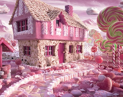 Food architecture by Willy Wonka
