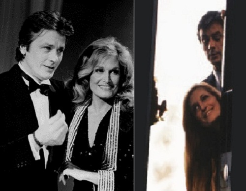 Dalida and her close friend Alain Delon