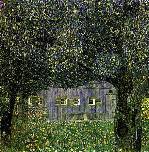 Farmhouse with Birch Trees - Gustav Klimt, 1903