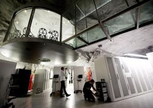 Stockholm, Sweden, a nuclear shelter