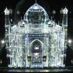 Taj Mahal crystal miniature in Austrian museum of Swarovski