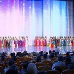 On the stage. Elina Kireeva the beauty of Russia 2012