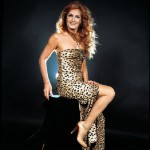 In a leopard dress, Dalida