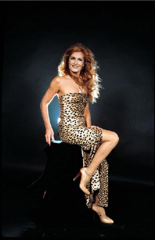 In a leopard dress, Dalida