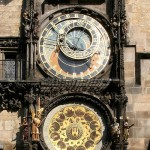 Medieval astronomical clock located in Prague