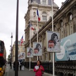 Street posters with the image of Dalida