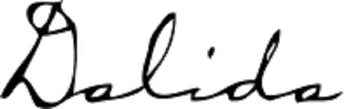 Signature of Dalida