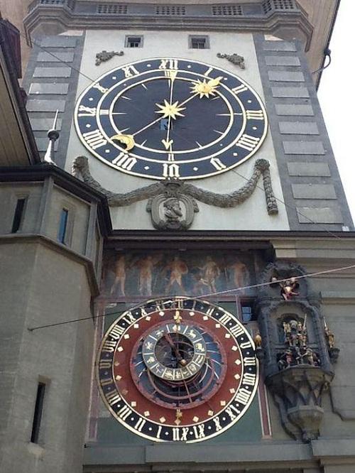 Beautiful 15th-century astronomical clock in Bern, Switzerland