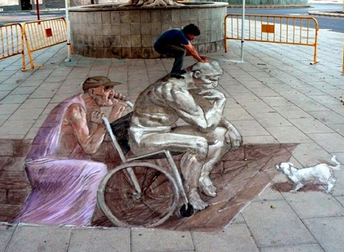 Amazing 3D graffiti by Eduardo Relero