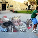 Fabulous optical illusions in 3D graffiti by Argentinian artist Eduardo Relero