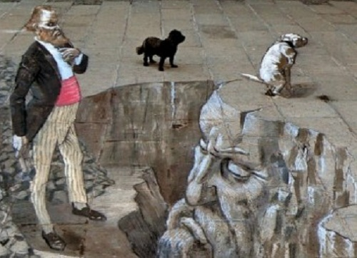 The reality and the illusion combined in 3D graffiti by Argentinian artist Eduardo Relero