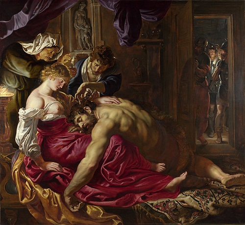 Samson and Delilah Flemish Baroque painter Peter Paul Rubens (1577–1640)