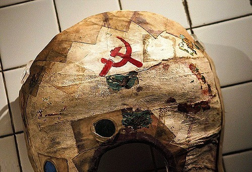 a corset emblazoned with the Communist logo