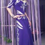 Proud designer in her own dress