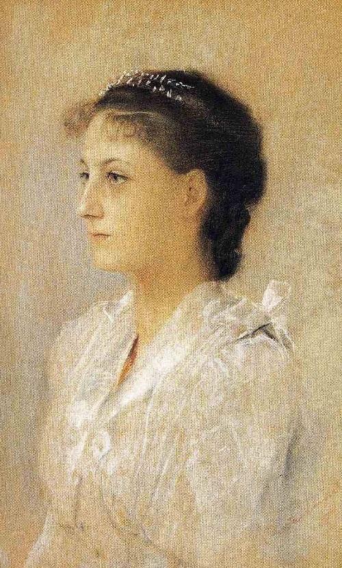 Emilie Floge, Aged 17. 1891, by Gustav Klimt