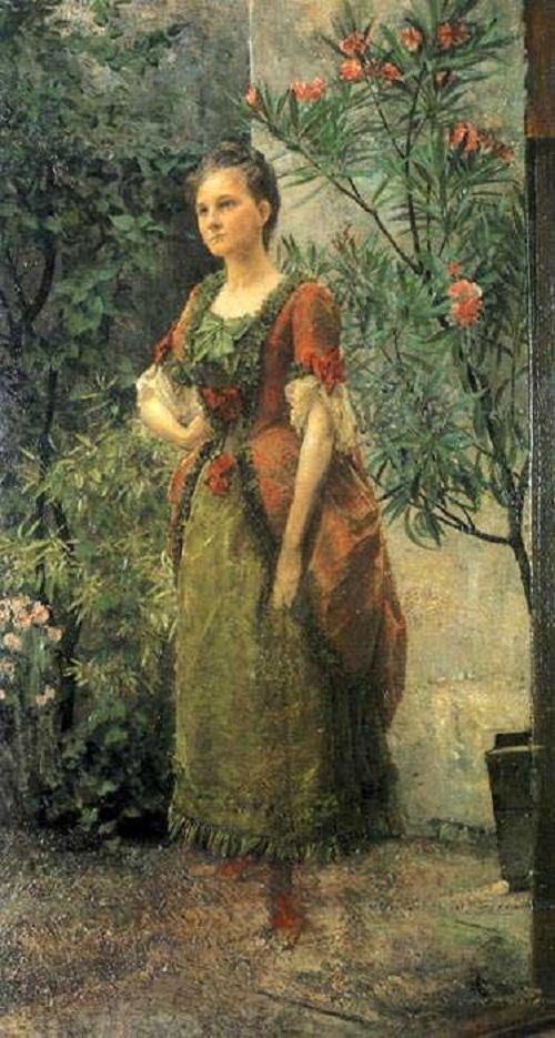Gustav Klimt. Portrait of Emilie Flöge of 17 y.o.