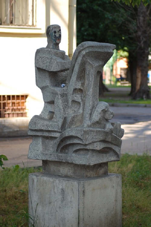 A monument to artist in St. Petersburg, Russia