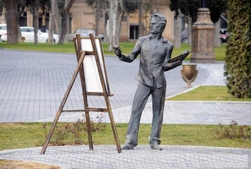 Monuments to artist Baku, Azerbaijan