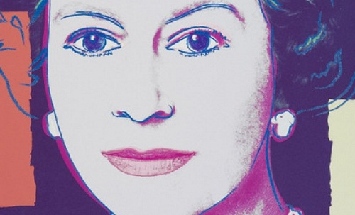 Andy Warhol portrait of the Queen