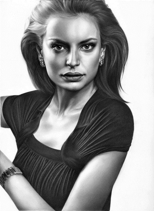 Beyond. Pencil portrait by Armenian self-taught artist Sarkis Sarkissian